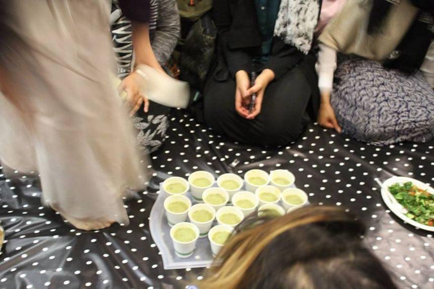 Participants in the event at Rumi's Cave, a London venue that hosts courses for millennial Muslims and open-mic nights, had to bring their own cutlery and crockery, as well as containers for leftovers.