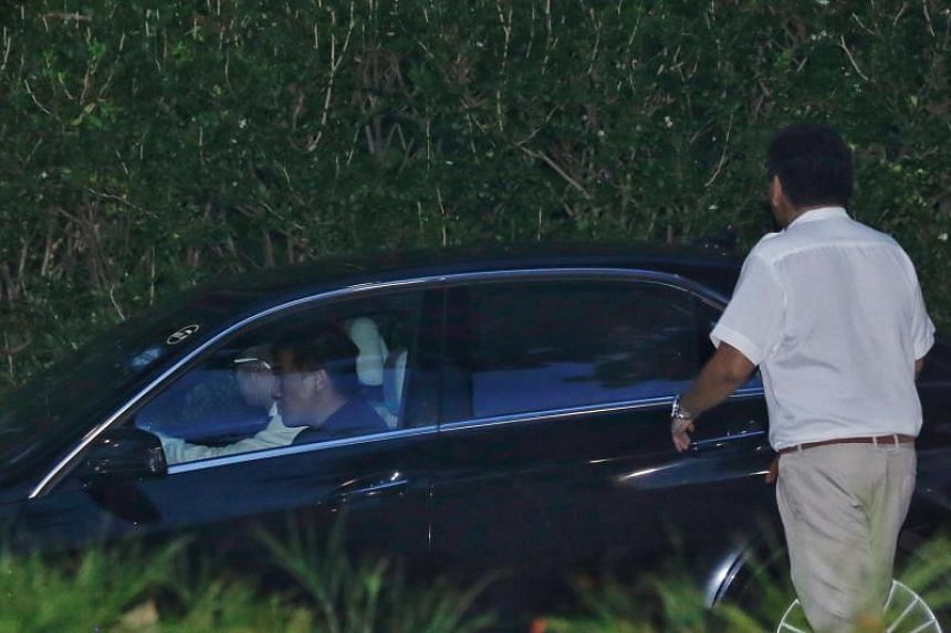 A car carrying North Korean officials leaving Capella Hotel in Sentosa on May 30, 2018.