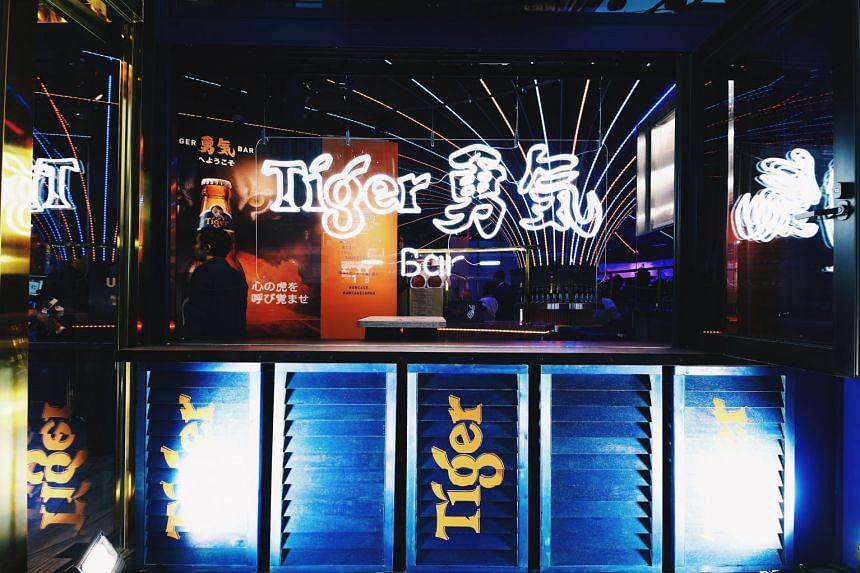 Called Tiger Yuki, the pop-up bar was created as part of Tiger Beer's Japan launch in Tokyo's Roppongi district.