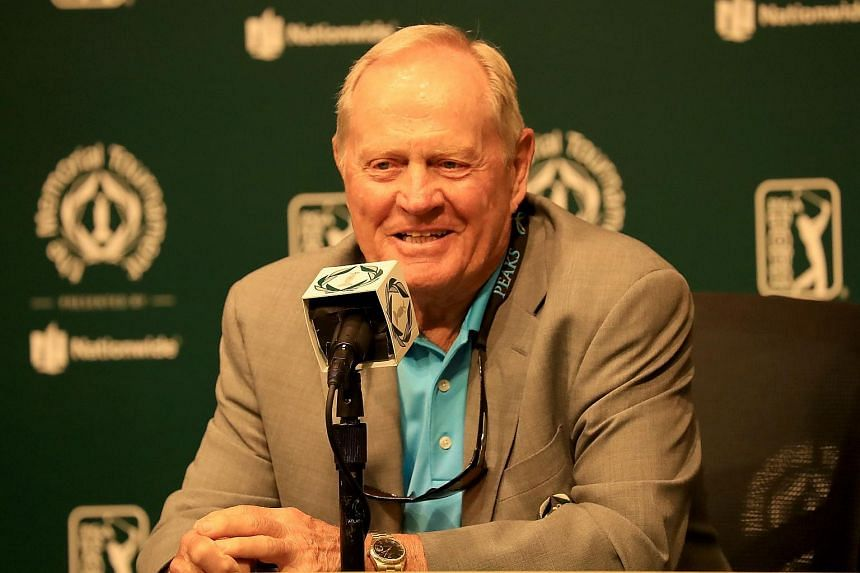 Jack Nicklaus speaks to the media prior at the Muirfield Village Golf Club in Dublin, Ohio, on May 29, 2018.