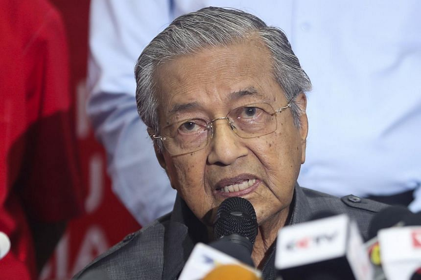 Malaysian Prime Minister Mahathir Mohamad speaking during a press conference in Kuala Lumpur, Malaysia, on May 28, 2018.