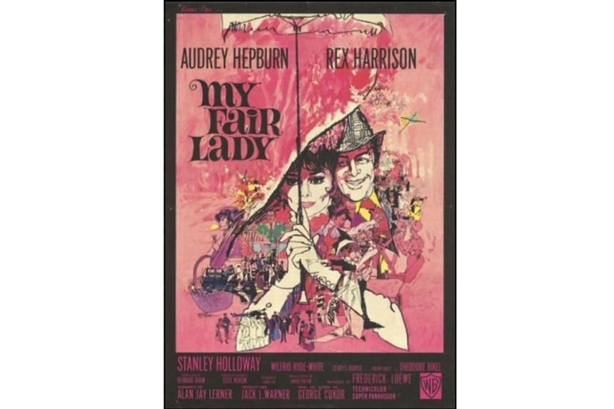 Movie posters designed by Bill Gold include Casablanca, The Exorcist and My Fair Lady (above).