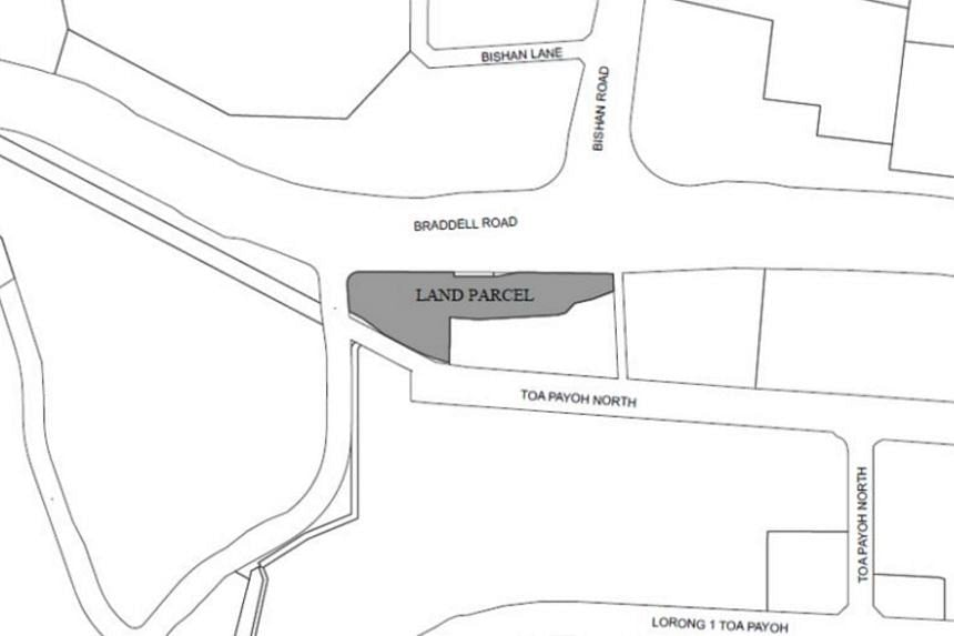 A reserve list parcel at Braddell Road, one of the two sites put up for tender by JTC.