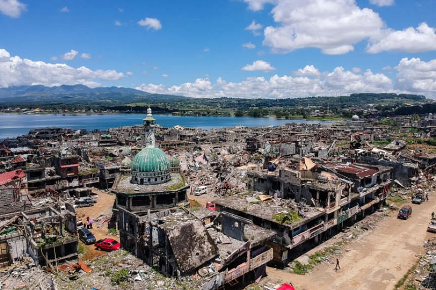 """A quarter of Marawi was reduced to dust and rubble by a five-month war sparked by an attempt by Islamist extremists in May last year to turn the southern Philippine city into a """"province"""" of ISIS."""