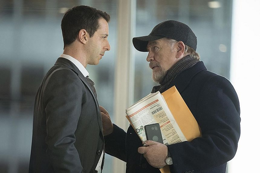 In Succession, media baron Logan Roy (Brian Cox) vexes his son Kendall (Jeremy Strong) by refusing to name him as his clear heir.