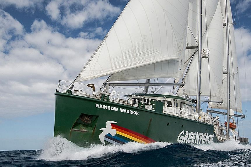 The Rainbow Warrior is one of the most energy-efficient ships in the world. The ship's 55m-high, A-Frame mast system can carry far more sail than a conventional mast of the same size.