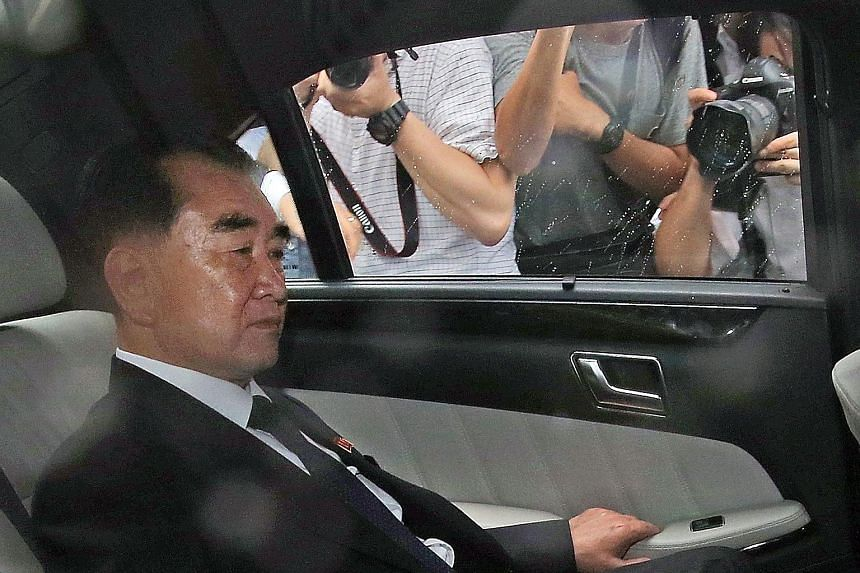 Mr Kim Chang Son, the de facto chief of staff of North Korean leader Kim Jong Un, flew into Singapore on Monday night and is believed to be staying at The Fullerton Hotel. At about 9.40am yesterday, he was seen leaving the Fullerton in a black Merced