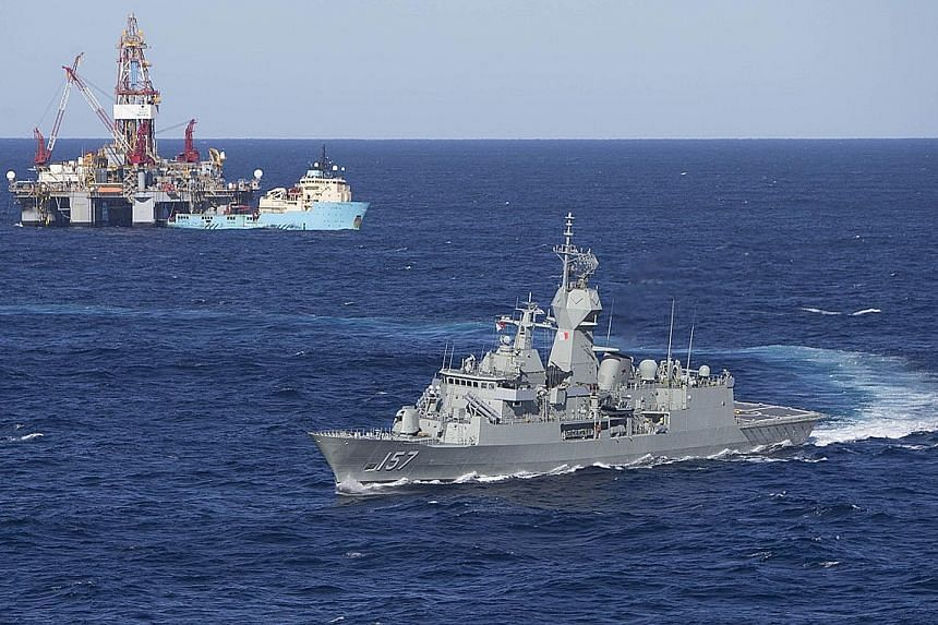 HMAS Perth (III), the eighth Anzac class frigate built by Tenix Defence Systems for the Royal Australian Navy.
