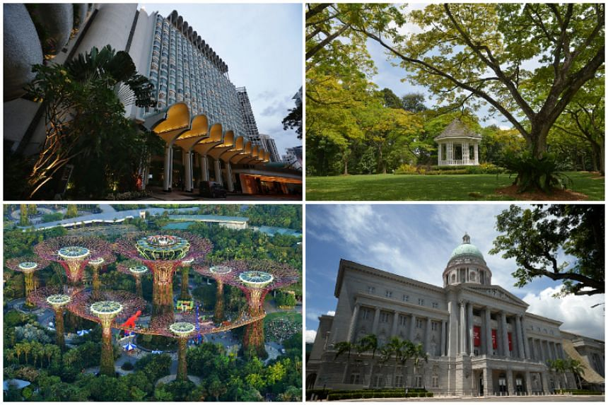 Clockwise from top left: Shangri-La Hotel, Singapore Botanic Gardens, National Gallery Singapore and Gardens by the Bay. While US President Donald Trump confirmed early this month that Singapore would play host for the historic summit, the exact loca