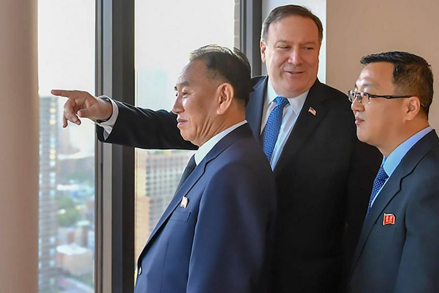 Dialogue between the US and North Korea began with a dinner meeting held in an apartment building near the UN headquarters at 7pm US time (Thursday, 7am Singapore time) in New York, on May 30, 2018.