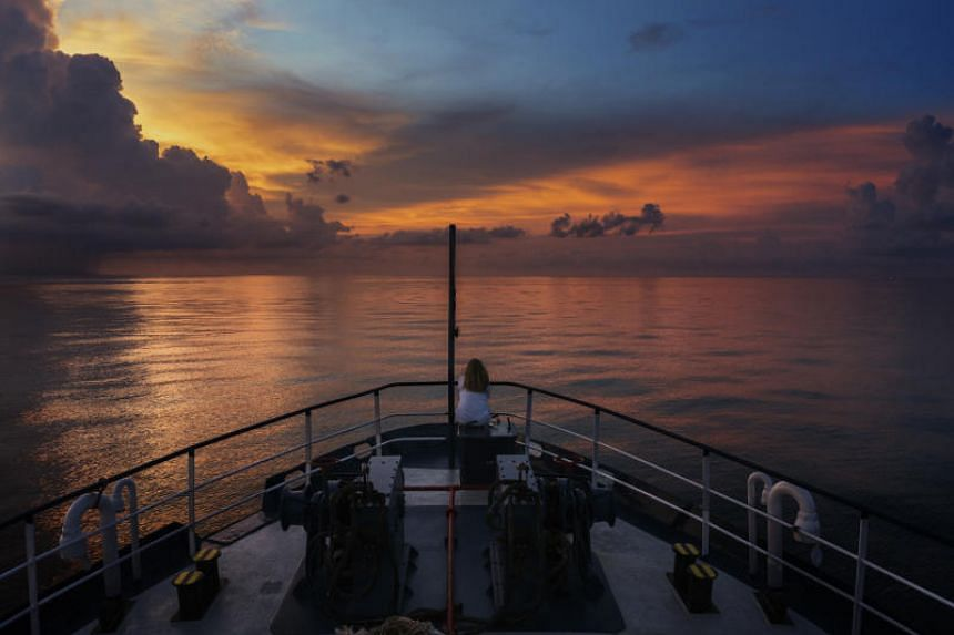 The Phoenix, a search-and-rescue boat run by a Malta-based charity group, on the patrol for Rohingya refugee boats in the Andaman Sea, on May 8, 2018.