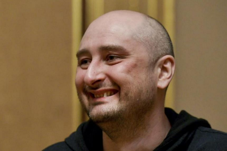Russian dissident journalist Arkady Babchenko, who was reported murdered in Kiev and dramatically reappeared alive later.
