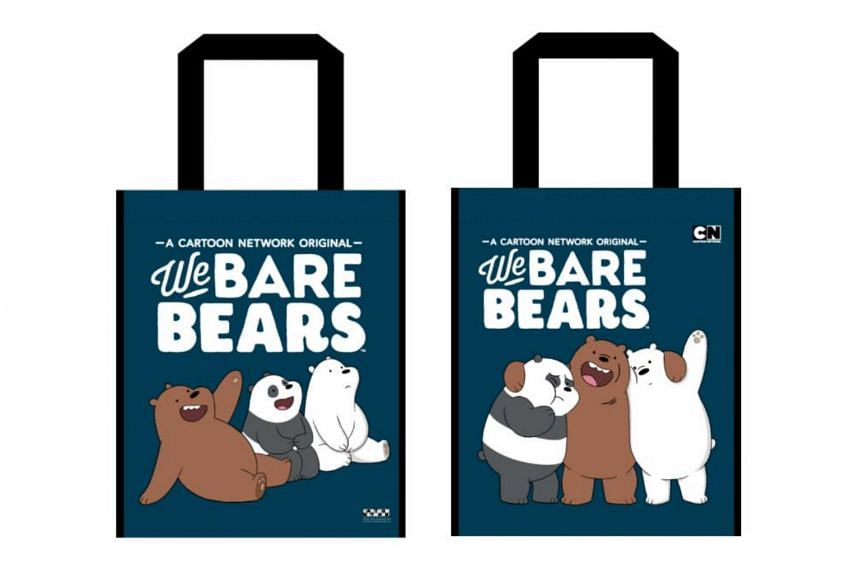 Shihlin Taiwan Street Snacks is collaborating with Cartoon Network's We Bare Bears to give away A4-sized tote bags, which are water resistant.