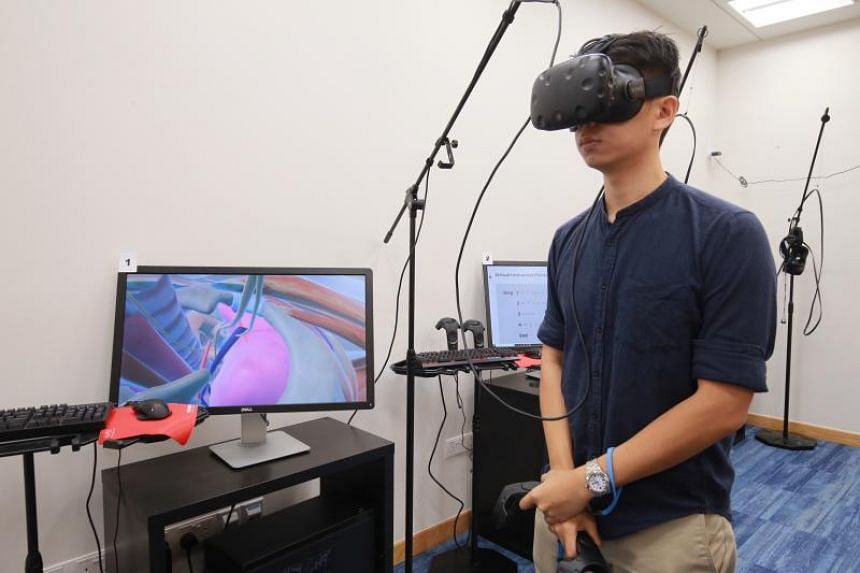 NUS' Yong Loo Lin School of Medicine has been fine-tuning a system called Virtual Interactive Human Anatomy which allows students wearing a VR headset to delve into the anatomy of a human body.