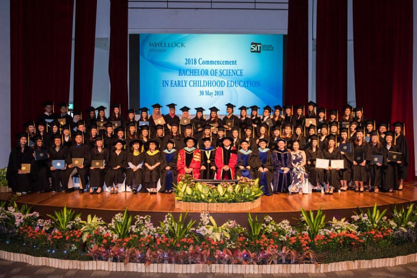 The final batch of graduates from Wheelock College-Singapore at their graduation ceremony, on May 31, 2018.