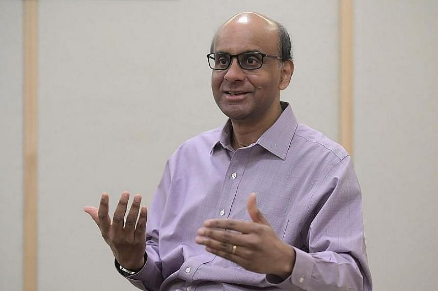 """Deputy Prime Minister Tharman Shanmugaratnam warns of an """"ebbing of hope and optimism"""" in his lecture in Washington."""