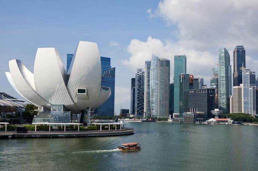 A general view of the ArtScience Museum and the Marina Bay Financial Centre as seen from the Helix Bridge. The US paid tribute to Singapore for agreeing to host the proposed US-North Korea summit on June 12.