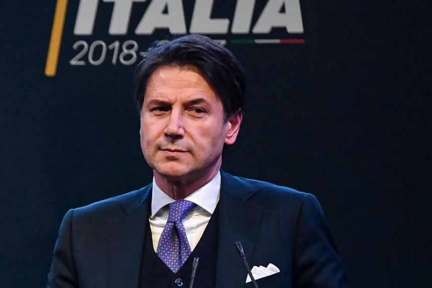 5-Star Movement candidate for the Public Administration Minister Giuseppe Conte during an election event in Rome, Italy, on March 1, 2018.