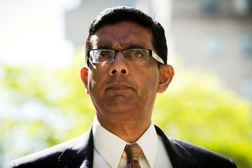Conservative commentator Dinesh D'Souza pleaded guilty in 2014 to US campaign finance law violations.