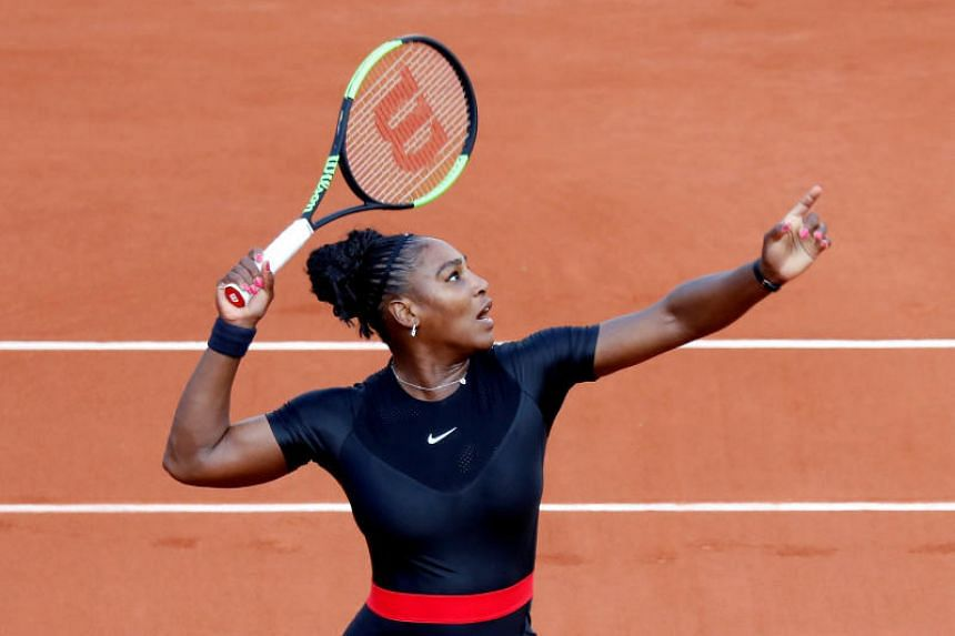 Serena Williams of the U.S. in action during her second round match against Australia's Ashleigh Barty.