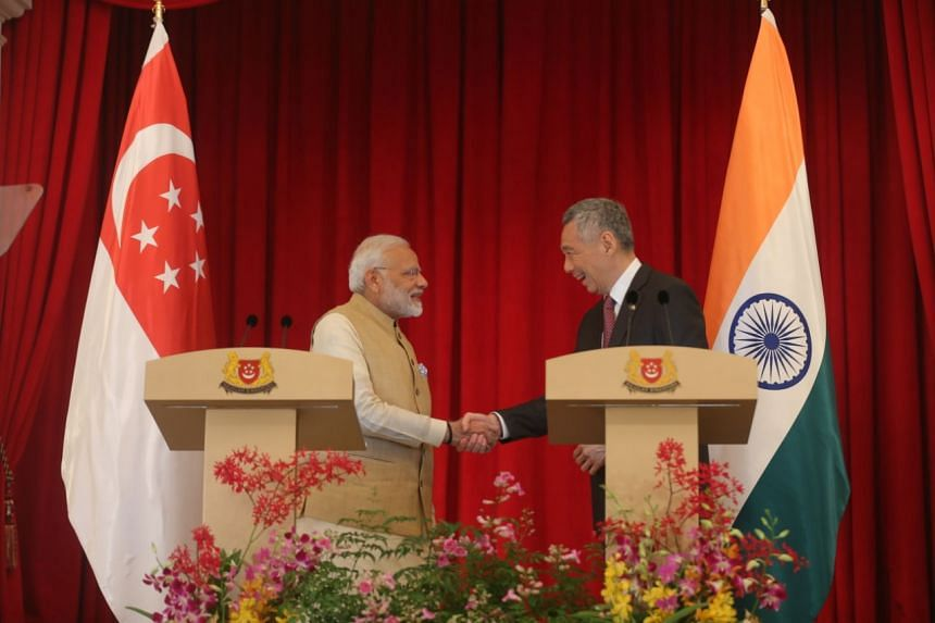 Prime Minister Lee Hsien Loong and visiting Indian Prime Minister Narendra Modi said they had agreed to deepen economic ties and build on defence cooperation.