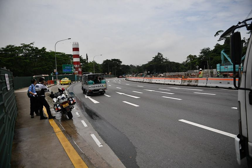 A stretch of Adam Road after the MacRitchie Flyover where the cracks occurred on June 1, 2018.