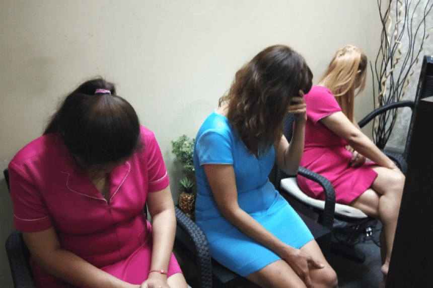 The enforcement operation was conducted against unlicensed massage parlours and public entertainment outlets in Serangoon Road, Lavender Street, Jalan Besar, Coleman Street, Beach Road and Middle Road.