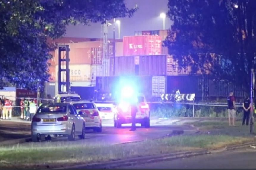 British media said Greater Manchester police were called to a roundabout at Europa Way at about 10pm.