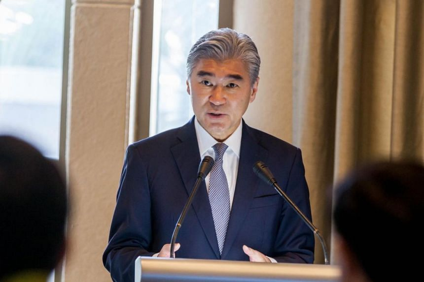 """We believe that we are moving in the right direction to the ongoing series of consultations,"" said US Ambassador to the Philippines Sung Kim."