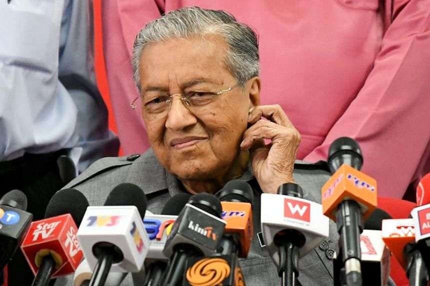 """Malaysian Prime Minister Mahathir Mohamad said the cancellation was """"decided by the party from the very beginning""""."""