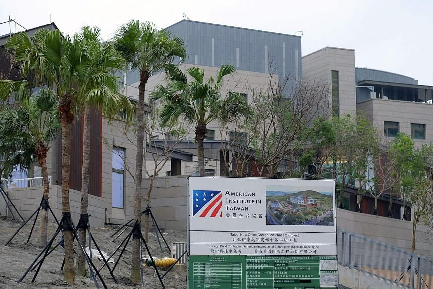 The new American Institute in Taiwan building is being unveiled at a time when ties between Washington and Taipei - long kept low key to avoid angering Beijing - have been elevated to levels not seen in decades.