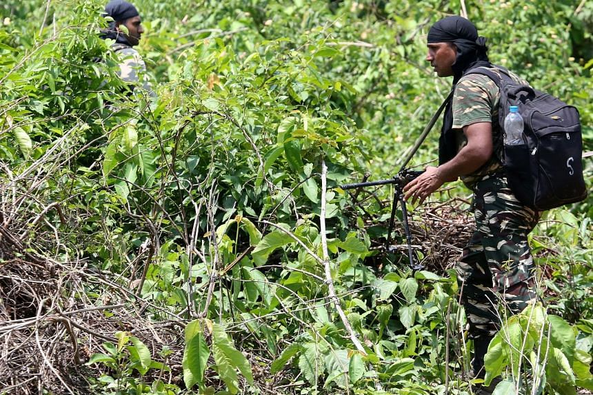 Indian soldiers on patrol in a forest in eastern Jharkhand state amid operations against Maoist rebels. The insurgency has killed more in the past decade than any other conflict in the country.