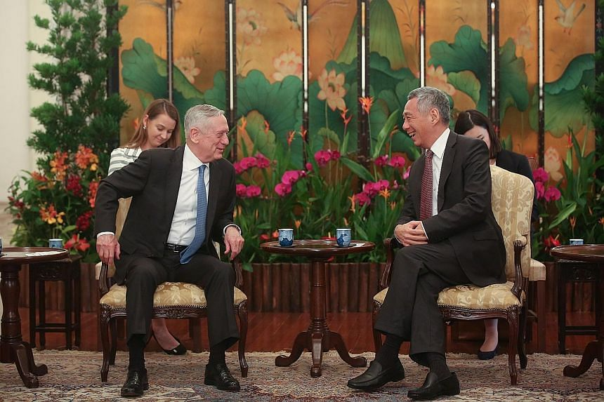 Malaysian Defence Minister Mohamad Sabu also called on PM Lee, who congratulated him on his appointment and talked about the close relations and extensive cooperation between the two countries. US Defence Secretary James Mattis called on Prime Minist