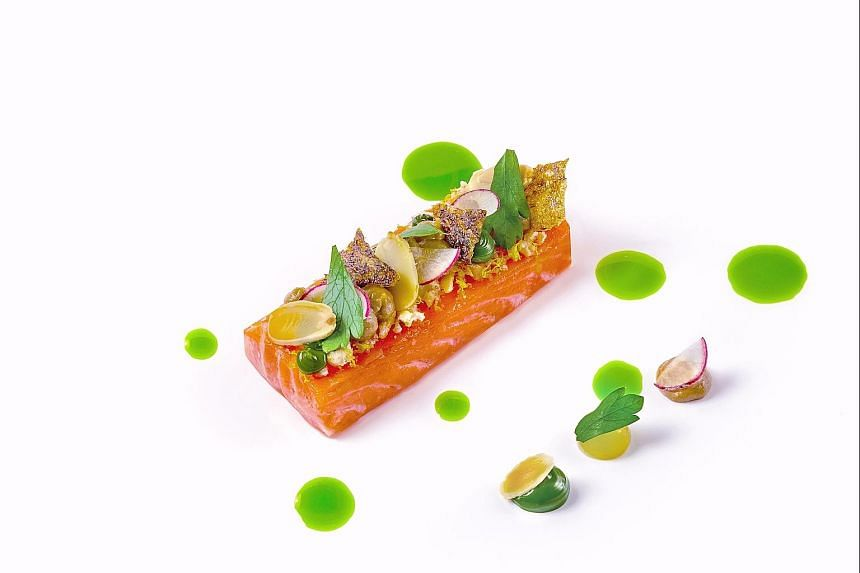 A dish to try at the Curate is the Forelle Mullerin Art - a fillet of trout poached in butter infused with pine needles. Chef Benjamin Halat's signature dishes include soufflated farm egg with beluga caviar and German pork knuckle. The eight-course t