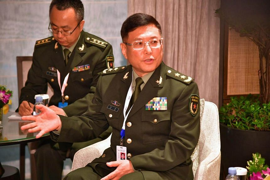 "Chinese Lieutenant General He Lei lashed out at ""irresponsible comments"" on Beijing's military build-up in the South China Sea."