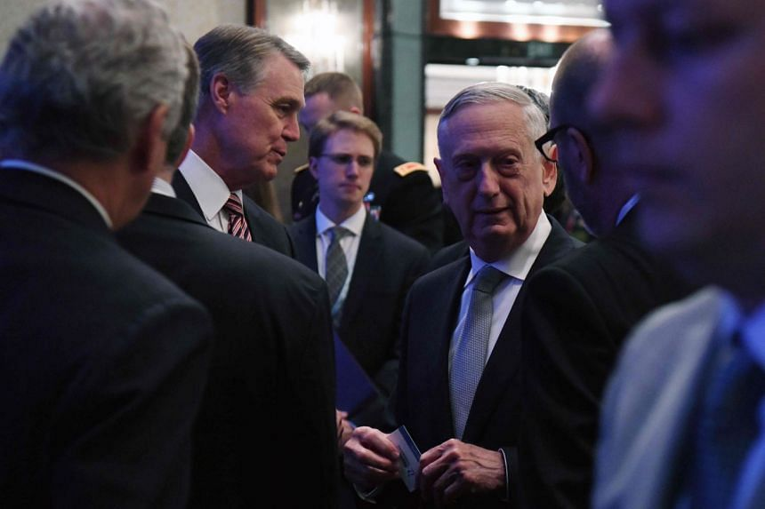 """US Defence Secretary James Mattis said the issue is not on the table, """"nor should it be""""."""