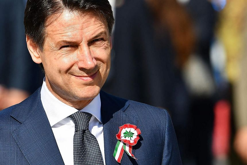 Italy's new Prime Minister Giuseppe Conte at a ceremony yesterday marking the country's Republic Day.