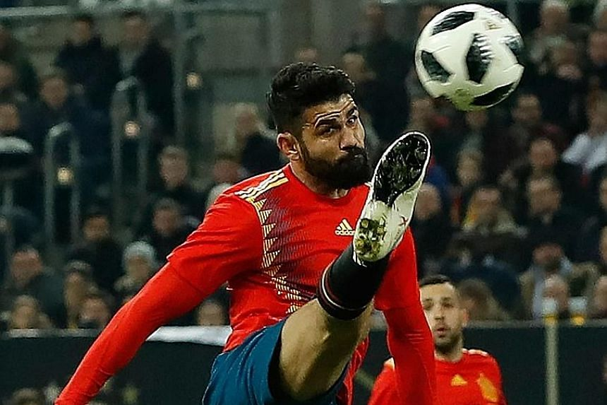 The Brazil-born Diego Costa in the 1-1 friendly draw with Germany in Dusseldorf in March. He appears to have edged ahead in the fight to be Spain's No. 1 striker.