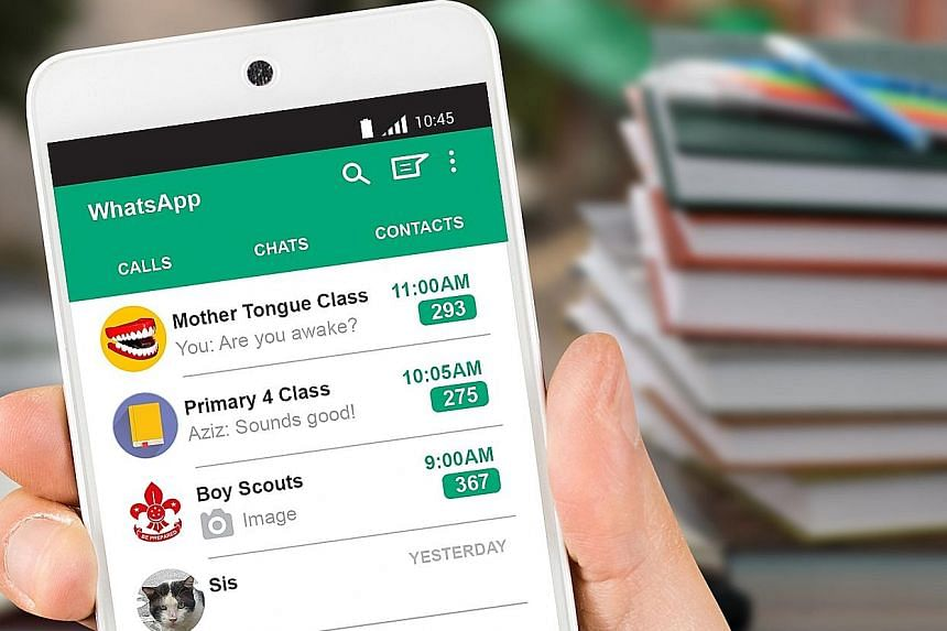 Focus on the Family Singapore's chief executive officer Joanna Koh-Hoe noticed that her son, Primary 6 pupil Tobias, was frequently checking his WhatsApp messages and would take up to two hours to complete a piece of homework that would ordinarily ta