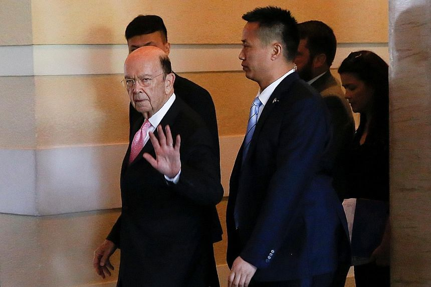 US Commerce Secretary Wilbur Ross in Beijing yesterday. He is trying to secure long-term purchases of American farm and energy commodities to help shrink a US$375 billion trade deficit with China.