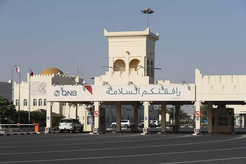"""Security vehicles are seen parked on the Qatari side of the Abu Samrah border crossing with Saudi Arabia in 2017. Experts are warning that the Qatar crisis is creating a """"new"""" Gulf."""