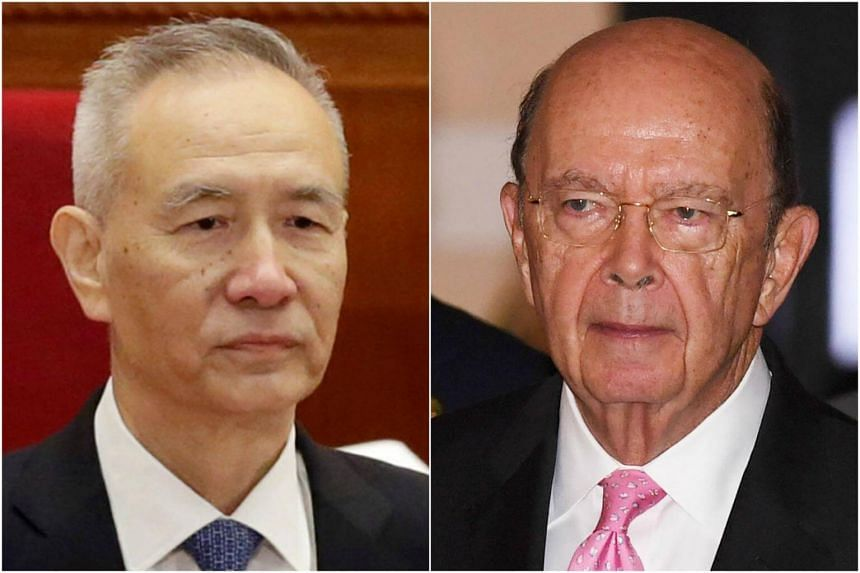 US Commerce Secretary Wilbur Ross (right) met Chinese Vice Premier Liu He for dinner on June 2 and the two are due to meet again on June 3, a US official said.