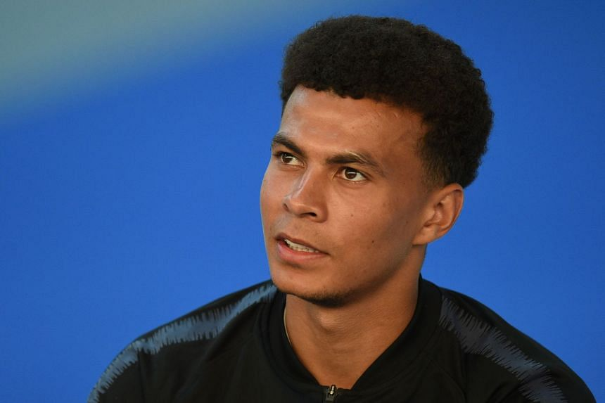 England midfielder Dele Alli speaking to the media at St George's Park in Burton-on-Trent on May 28, 2018.