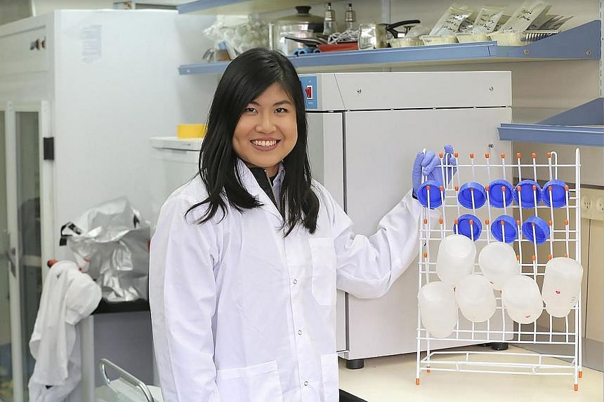 Ms Lim Jie Ai also interned at sustainable food start-up Flying Spark, which seeks to offer protein powders from the fruit fly larvae as a healthier and sustainable alternative to animal protein.