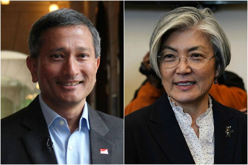 Foreign Minister Vivian Balakrishnan and his South Korean counterpart Kang Kyung Wha agreed to work together to ensure the success of the June 12 summit slated to take place in Singapore.
