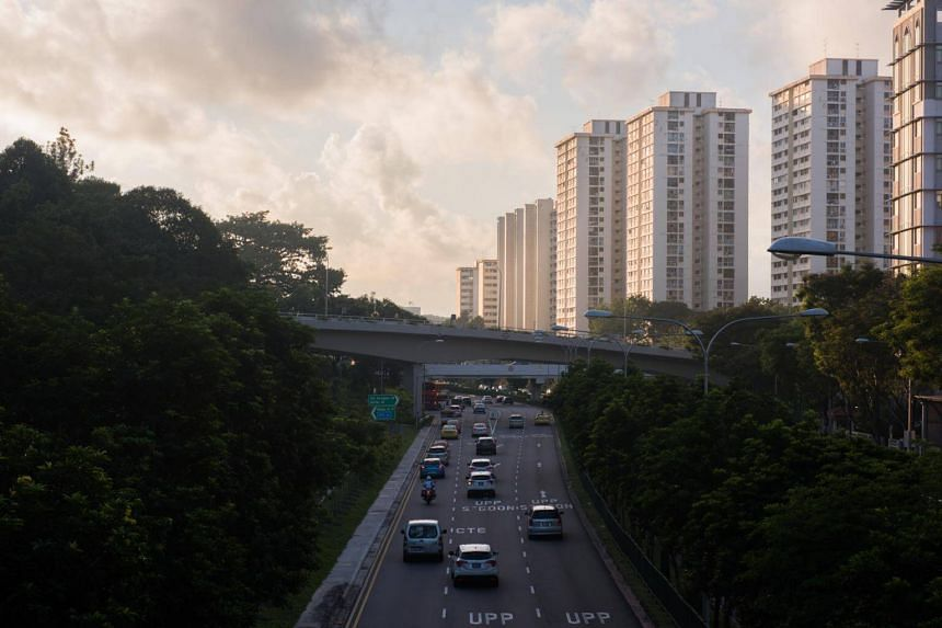 A photo of Housing Board blocks in Braddell Road on May 22, 2018. Residents in Toa Payoh, Bishan and Thomson had reported a burning smell and smoky fog on their social media platforms on June 3.