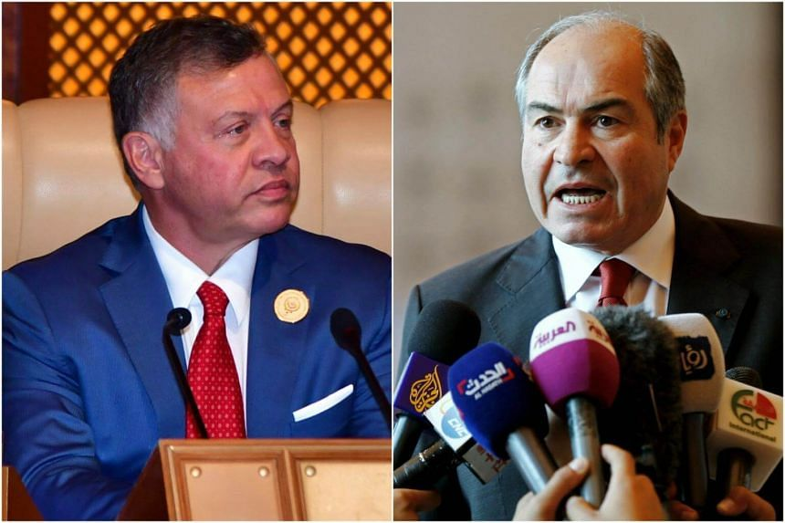 King Abdullah of Jordan (left) was expected to ask Prime Minister Hani Mulki to resign in a bid to soothe widespread anger over economic policies.