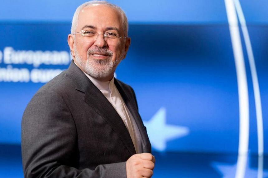 Iranian Foreign Minister Mohammad Javad Zarif arrives at the EU headquarters in Brussels ahead of a meeting, on May 15, 2018.