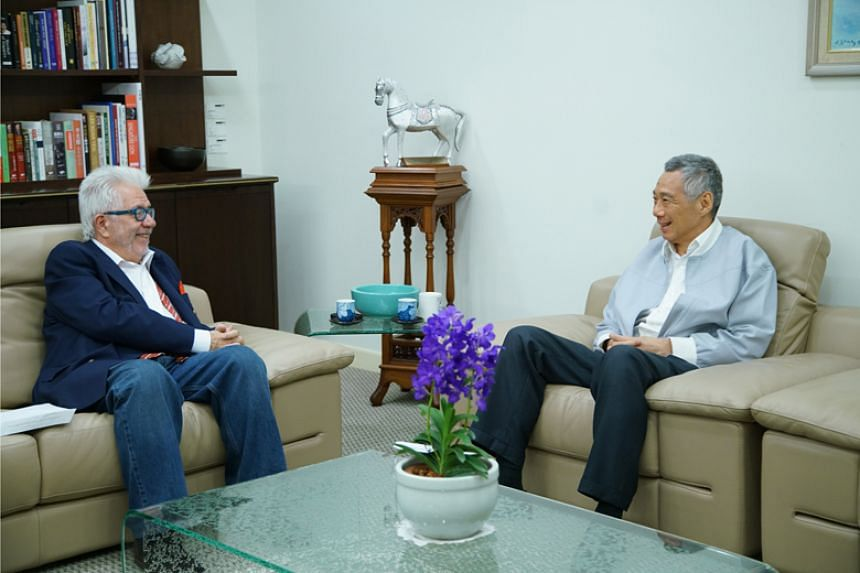 Prime Minister Lee Hsien Loong in an interview with American journalist Tom Plate.