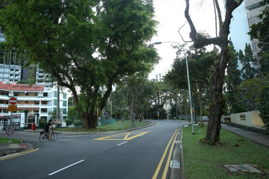 """Anderson Road, near the Shangri-La Hotel, which is within the """"special event area"""" declared by the Government over the June 10-14, 2018, period."""